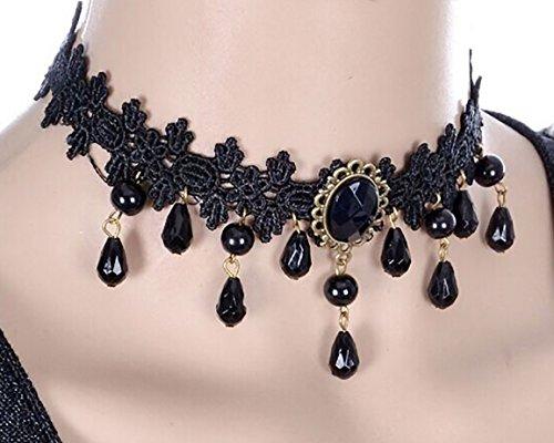 Gothic Kette Halskette Halsband Halscollier Collier Halsband Damen Vampir Vampirbraut (Vampir Kostüme Gothic)
