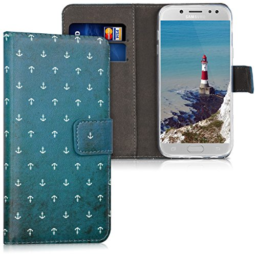 kwmobile Samsung Galaxy J5 (2017) DUOS Hülle - Kunstleder Wallet Case für Samsung Galaxy J5 (2017) DUOS mit Kartenfächern & Stand