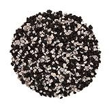 Aquariumpflanzen.net 25kg Farbkies schwarz/weiß, Körnung 2-3mm, Aquarienkies, Bodengrund