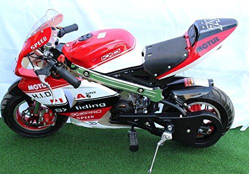 Mini Moto 49cc Limited Edition Pocket Bike Red White Black