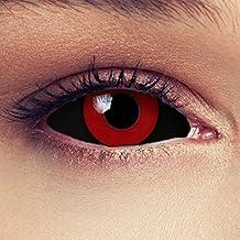 """Sclera lentillas de color negro y rojo para Halloween 22mm Tokyo Ghoul Zombi sin dioprtías / corregir + gratis caso de lente """"Saw"""""""