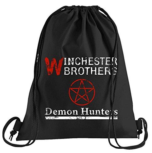 Hunter Demon Kostüm - T-Shirt People Winchester Demon Hunters Sportbeutel - Bedruckter Beutel - Eine schöne Sport-Tasche Beutel mit Kordeln