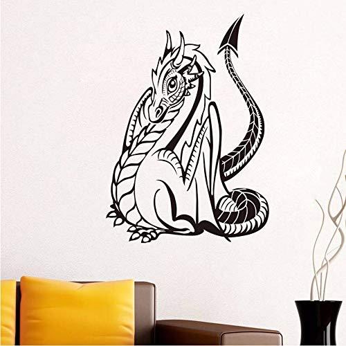 Lyqyzw Gotik Drachen Wandaufkleber Für Kinderzimmer Wanddekor Tier Wasserdichte Vinyl Wandkunst...