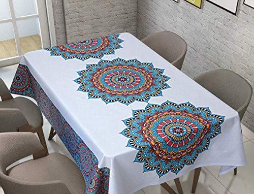 QWEASDZX Tischtuch Tuch Ölbeständig Antifouling Rechteckige Tischdecke Geeignet für den Innen- und Außenbereich 140x180cm