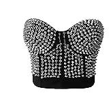 ZAMME Mujeres Punk Bra Top Burlesque Dance Clubwear Body Shapewear Cincher Bustier Corset