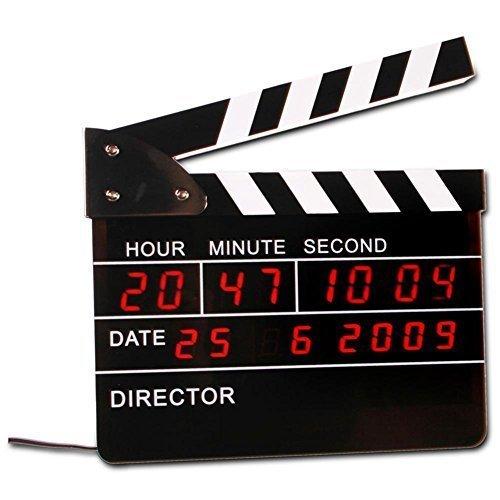 Film-Regieklappe mit integriertem LED Wecker