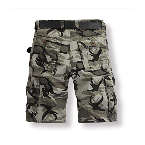Just No Logo Herren Cargo Shorts kurze Hosen Camo Bermuda Bundhose Grau