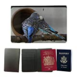 GoGoMobile Couverture de passeport // M00124899 Periquitos Periquitos Mascotas // Universal passport leather cover