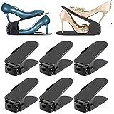 Towinle Schuhstapler, [ 8er Set ] Schuh Slots Verstellbare Schuheorganizer Doppel Schicht Schuhhalter Schuhregal für Schrank