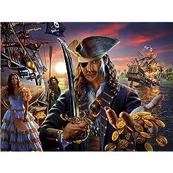 """Cuadro """"The pirate"""" de Adrian Chesterman, 160 x 120 cm."""
