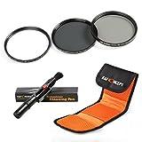 K&F Concept 52mm Filtre Objectif UV CPL ND4 Kit d'Accessoires UV Protecteur Filtre Polarisant Filtre ND pour Canon Nikon Sony Olympus et les Autres Reflex Numérique avec 52mm Filetage de lentille +Stylo de Nettoyage + Pochette Filtre