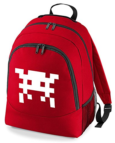 Space Invader Rucksag Bag for Adults in 5 Colour Choices