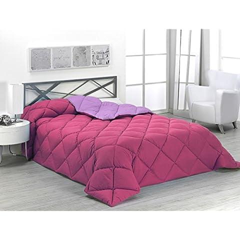 Sabanalia - Edredón nórdico de 400 g , bicolor, cama de 90 cm, color fucsia y lila