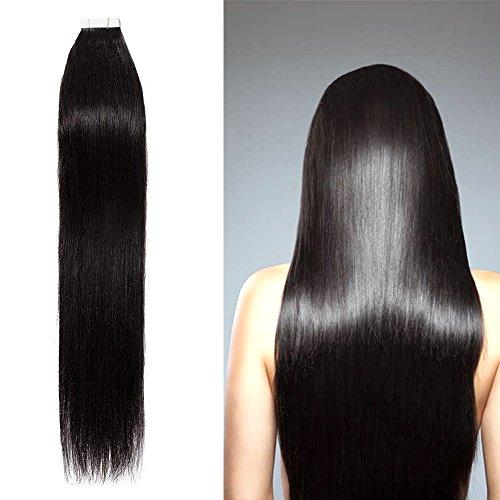 40 fasce extension capelli veri biadesive 100g tape extension adesive 20