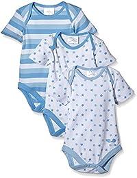 Twins Baby - Jungen Kurzarm-Body im 3er Pack
