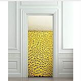 Haipeiy Türaufkleber DIY 3D Wandaufkleber Wandbild Schlafzimmer Wohnkultur Poster PVC Bier Blasen Wasserdichte Tür Aufkleber Aufkleber 77x200 cm