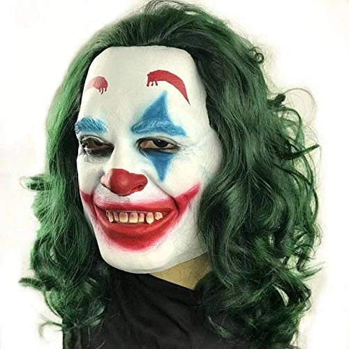 Der Kostüm Weibliche Joker - JNKDSGF HorrormaskeStephen Kings Es Mask Kostüm Joker Maske Tim Curry Horror Masken Cosplay Halloween-x12056