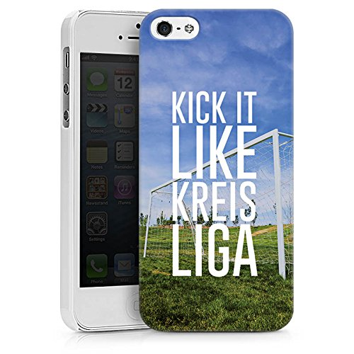 Apple iPhone X Silikon Hülle Case Schutzhülle Kreisliga Fußball Tor Hard Case weiß