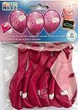 Karaloon 30032 - 6 Ballons Schule Girls, 90-100 cm, rosa