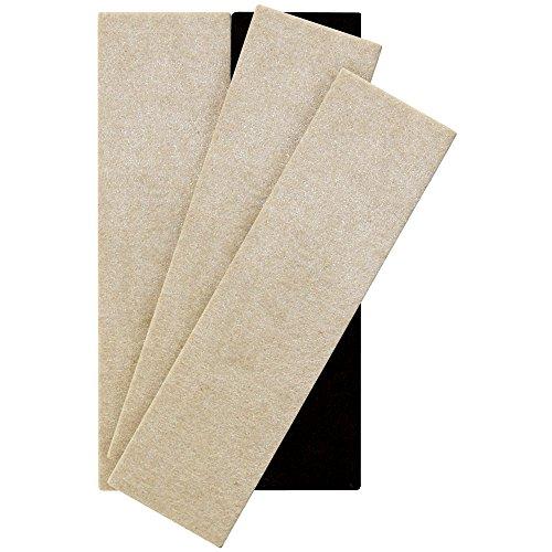 Supersliders réutilisable Meuble en Feutrine de curseurs pour surfaces dures (4 pièces) – 2–1/5,1 cm X 9, rectangle Supersliders, beige, 4703795N