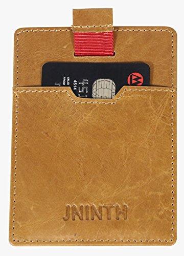 FID Schutz - Echtes Leder Front Pocket Wallet dünne Minimalistische Card Wallet Holder für Unisex (Elektronische Valentinstag-karten)