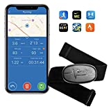 CooSpo Herzfrequenzmesser Brustgurt Bluetooth 4.0 ANT+ Heart Rate Monitor Sensor IP67 Wasserdicht Kompatibel mit Garmin Wahoo Strava Zwift Polar RUNTASTIC