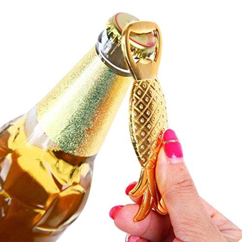 (Makefortune Ananas Form Flaschenöffner Legierung Werkzeug Hochzeit Geburtstag Favor Geschenk Souvenirs (Gold))