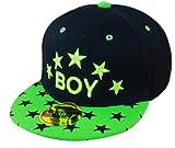 THENICE Kind Hip-Hop Sterne Cap Baseball Kappe Hut (BOY grasgrünen)