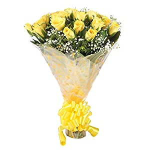 The Flower Studio Yellow Roses Bouquet (Bunch of 25, FW410)