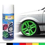 JOM Car Parts & Car Hifi GmbH JOM 127127 Felgenfolie, Sprühfolie, abziehbarer Felgenlack, SprayCoater II grün 400ml