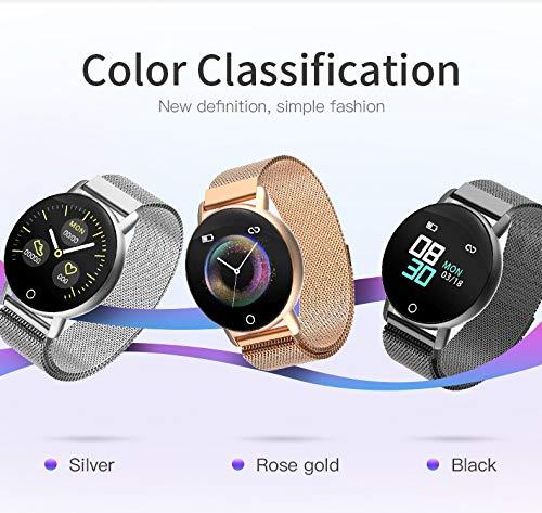 Bluetooth Smartwatch, Smart Watch Uhr Intelligente Armbanduhr Fitness Tracker Armband Sport Uhr mit Herzfrequenz Aktivität Schrittzähler Blutdruckuhr für Kinder Frauen Männer (Rosa)
