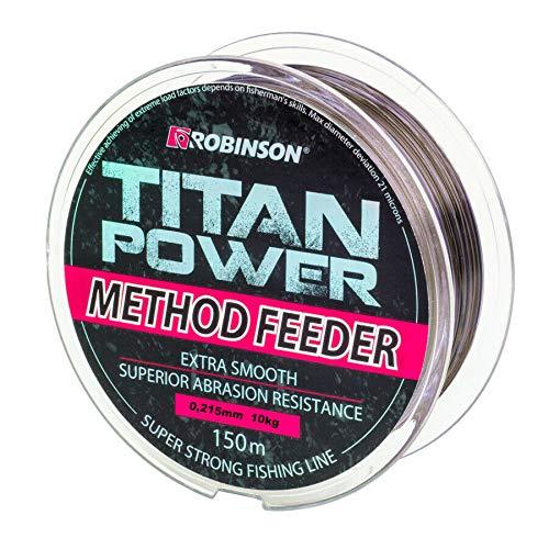 Robinson 150m Titan Power Method Feeder braune schnell sinkende Angelschnur von Ø0,175mm bis Ø0,345 erhältlichmm (Ø 0,215mm / 10,0kg)