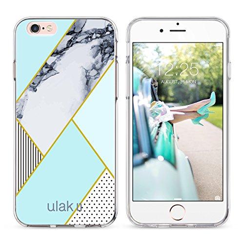 iPhone 6 Hülle, ULAK Apple iPhone 6S Hülle Case Weiche Silikon TPU Schutzhülle Stoßdämpfung Bumper und Anti-Kratz PC Zurück für iPhone 6 6s 4.7 Zoll (Kristall Klar) Minzgrün
