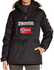 Geographical norway-building-parka para mujer, color negro
