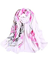 Sanwood® Women's Chiffon Flower Printed Wrap Shawl Scarf