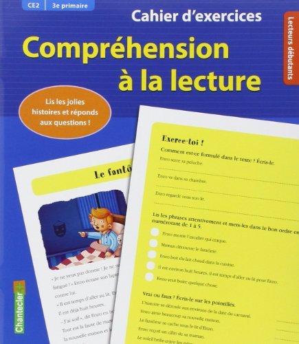 Cahier d'exercices Compréhension à la lecture (CE2 3e primaire) (bleu) de Hilde-E Gerard (3 janvier 2014) Broché