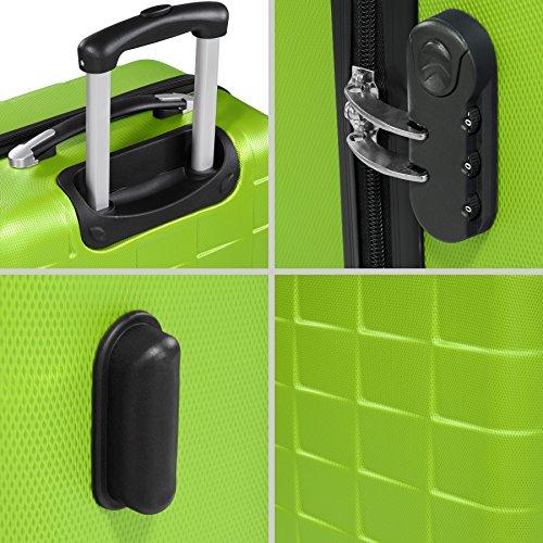 e00e458ec TecTake Set 3 piezas maletas ABS juego de maletas de viaje trolley ...