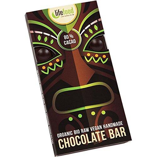 lifefood chocolate - 80 prozent Kakao, 2er Pack (2 x 70 g)