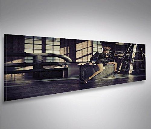 Cuadro Panoramico Industrial Girl Panoramico Impresión