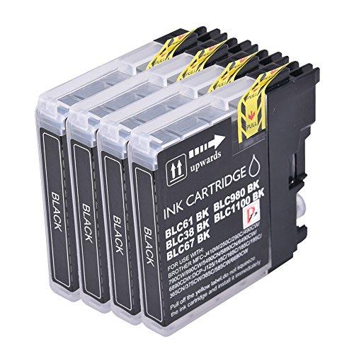4Schwarz PerfectPrint Kompatible Tintenpatronen ersetzen LC1100LC980LC 1100LC 980Für Brother MFC-250C 255CW 290C 295CN 297C 790CW 490CN MFC-5490CN MFC-5890CN MFC-795CW MFC-6490CW MFC-6890CDW MFC-990CW DCP-145C DCP-163C DCP-165C 167C DCP-185C DCP-195C DCP-365CN