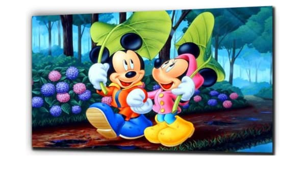 DISNEY Mickey Mouse /& Minnie Mouse Canvas Framed Print~ More Size ~