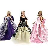 Miunana 3 Habit de cérémonie en dentelle magnifique robe princesse pour Barbie