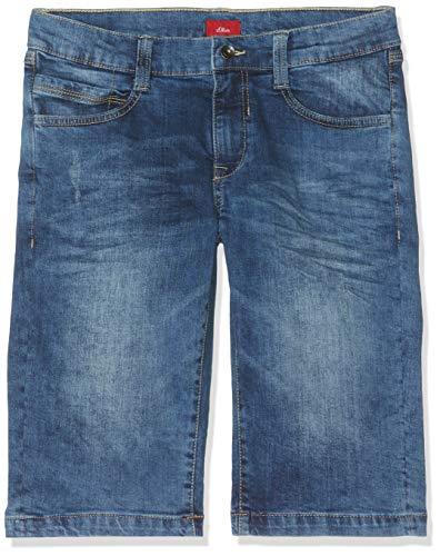 s.Oliver Jungen 62.906.72.5362 Shorts, Blau (Blue Denim Stretch 56z3), 164 (Herstellergröße: 164/BIG) Big Boys Pants