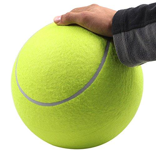 OneMoreT 24cm 9,5Zoll Hund Tennisball-Haustier-Hunde-Tennisball Kauen Spielzeug Signature Mega Jumbo Kinder Spielzeug-Ball für Haustiere Hunde-Zubehör -