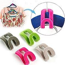 Dealglad® 10piezas hogar creativo Nuevo Mini nieve ropa gancho de la percha armario organizador color al azar