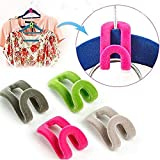 Dealglad® 10 piezas burrda Creative notebookbits Mini represor ropa gancho de la suspensión organizador del armario de Color al azar