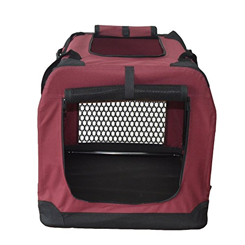Hundetransportbox Hundebox faltbar Transportbox Autotransportbox Faltbox Transportasche 401-D02 Farbe: marrone, Grösse: S - 4