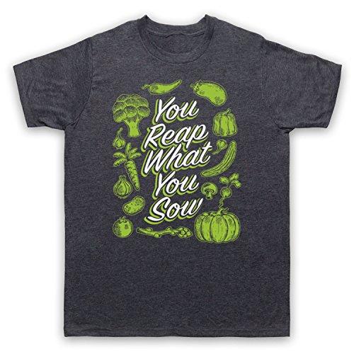 You Reap What You Sow Gardening Slogan Herren T-Shirt Jahrgang Schiefer