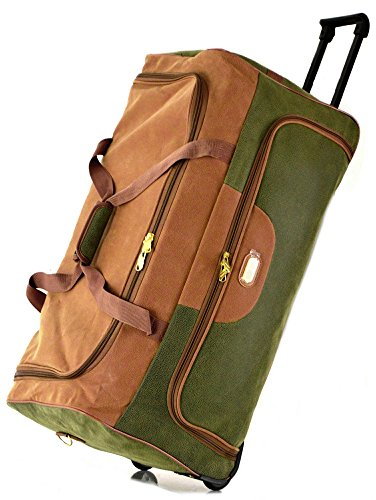 Suede Travel Luggage Wheeled Holdall Suitcase Duffle Bag (Large (30
