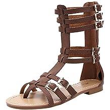Vogstyle Mujeres Verano Sandalias Peep Toe Zapatos ZY009